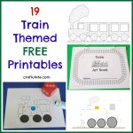19 Train Themed Free Printables
