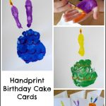 Handprint Birthday Cake Cards