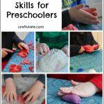 Play Dough Skills for Preschoolers