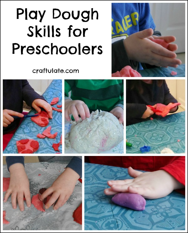 Play Dough Skills for Preschoolers from Craftulate