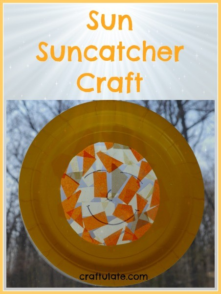 Sun Suncatcher Craft from Craftulate