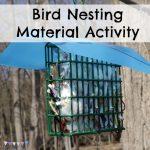 Bird Nesting Material Activity