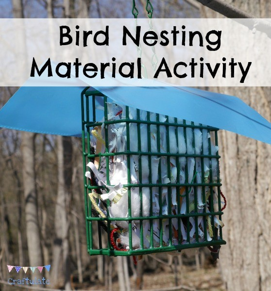 Bird Nesting Material Activity from Craftulate - help birds build their nests!
