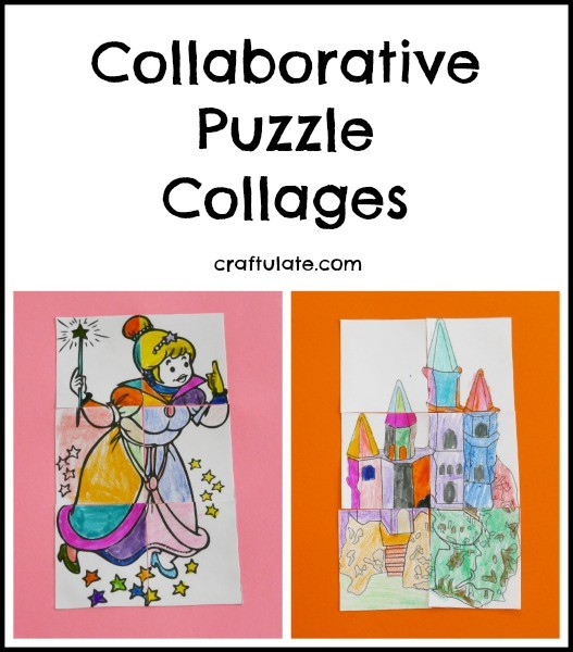 Collaborative Puzzle Collages from Craftulate - great for groups and classrooms!