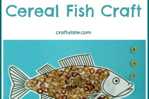 Fine Motor Cereal Fish Craft