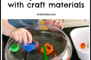 Sink or Float Experiment with Craft Materials