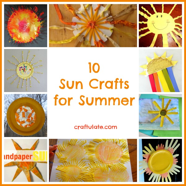10 Sun Crafts for Summer from Craftulate