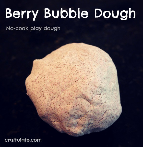 Berry Bubble Dough - no cook play dough made from liquid hand soap!