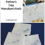 Decorated Father's Day Handkerchiefs