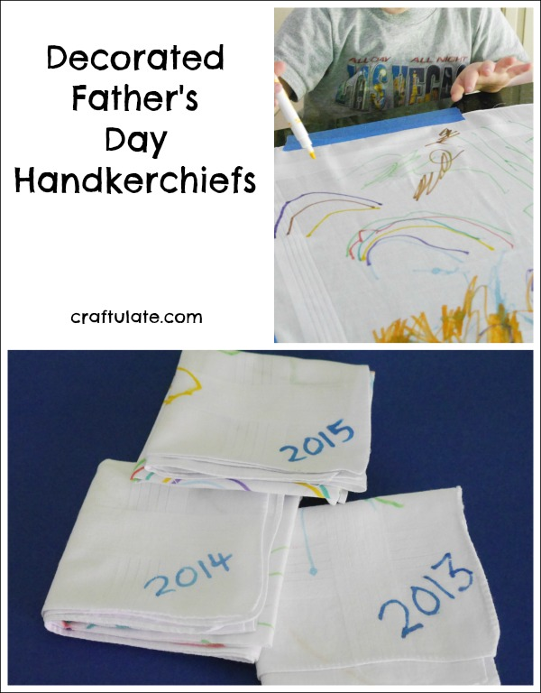 Decorated Father's Day Handkerchiefs - a wonderful tradition