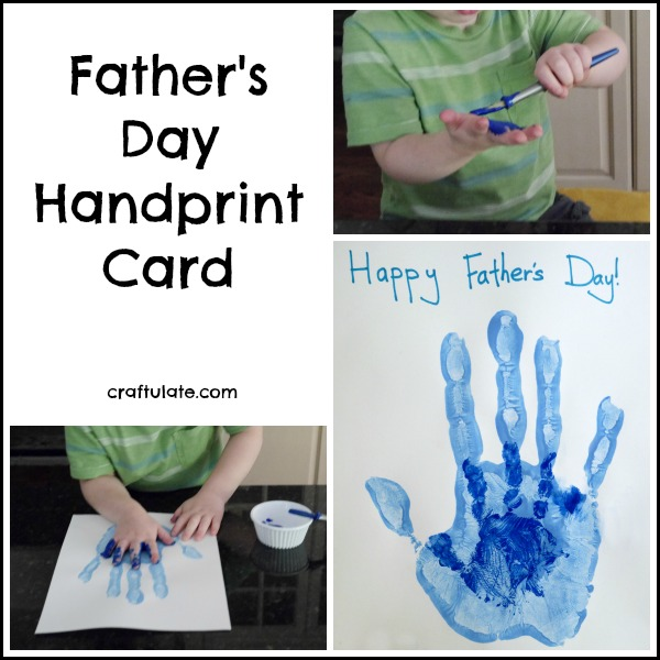 Father's Day Handprint Card - a classic keepsake