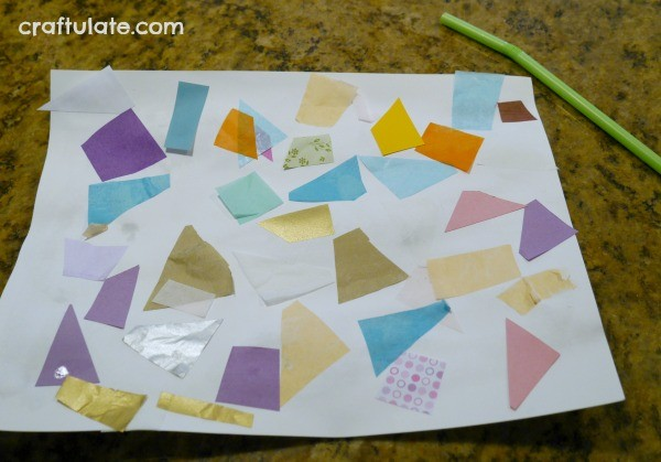 Hands Free Collage for Kids
