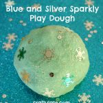 Blue and Silver Sparkly Play Dough