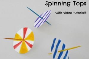 Super Easy Homemade Spinning Tops