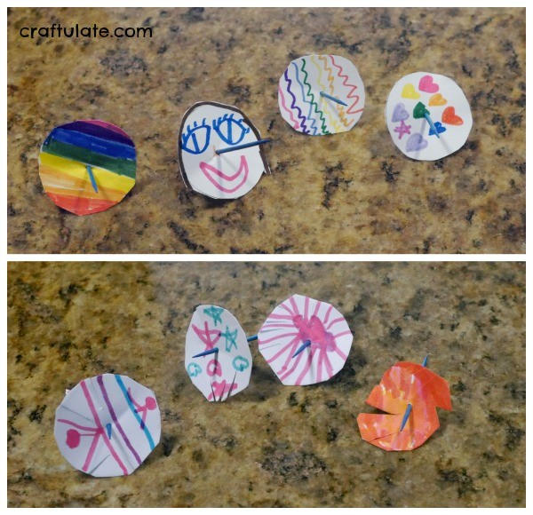 Super Easy Homemade Spinning Tops