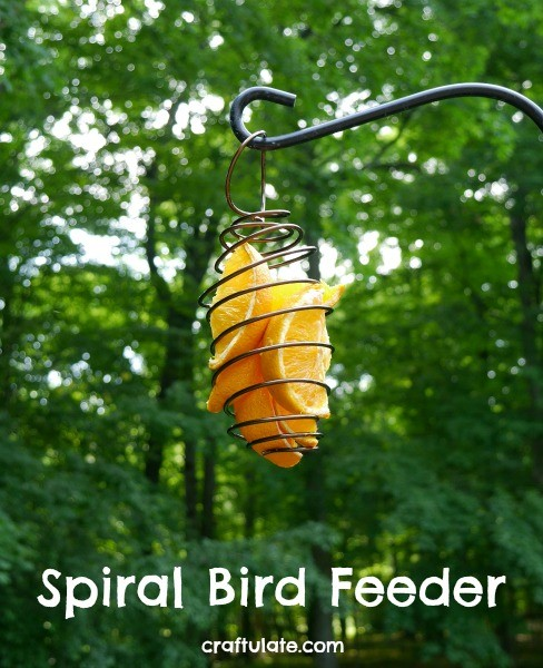 Spiral Bird Feeder - perfect for orange slices!
