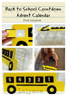 Back to School Countdown Advent Calendar Craft from Lalymom
