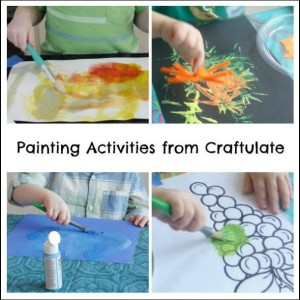 Painting Activities from Craftulate