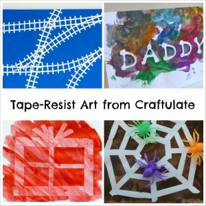 Tape Resist Art from Craftulate