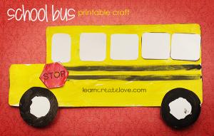 School Bus Printable Craft