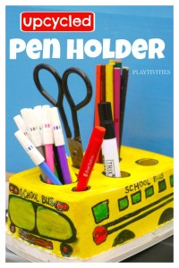 School Bus Pen Holder