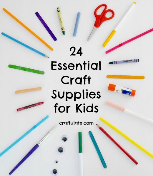 24 Essential Craft Supplies for Kids