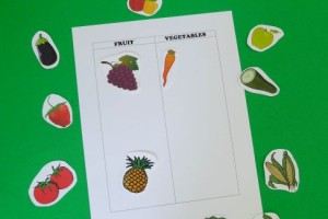 Fruit or Vegetable Game for Kids