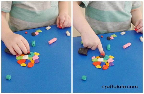 Squashed Clay Art for Kids