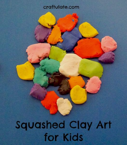 Squashed Clay Art for Kids - process art and fine motor practice in one activity!