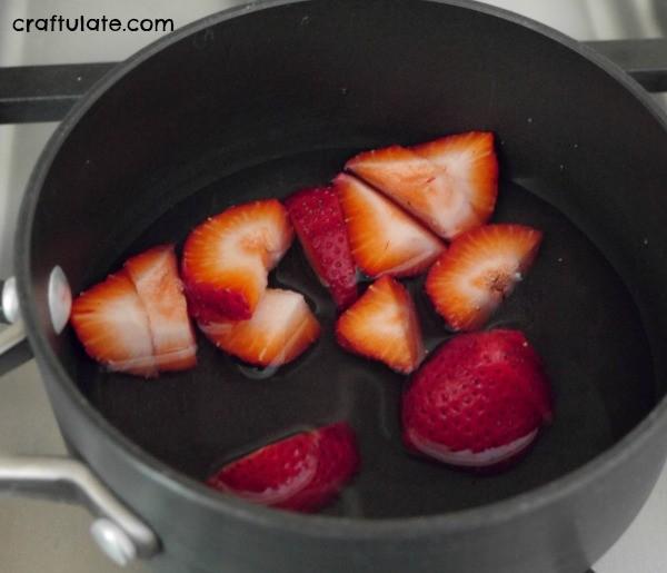 Summer Strawberry Playdough