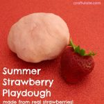 Summer Strawberry Playdough
