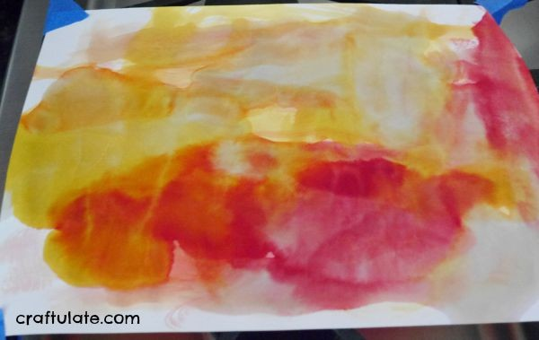 Watercolour Sunset Art for Kids