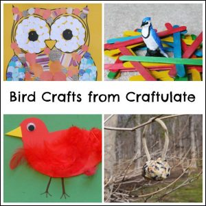 Birds Crafts from Craftulate