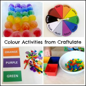 Colour Activities from Craftulate