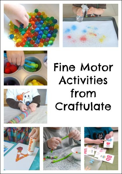 Fine Motor Activities from Craftulate