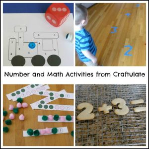 Number and Math Activities from Craftulate