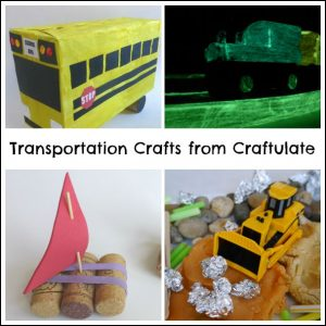 Transportation Crafts from Craftulate