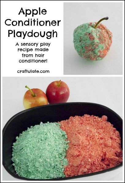 Apple Conditioner Playdough - made with hair conditioner!
