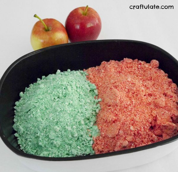 Apple Conditioner Playdough - made from hair conditioner!