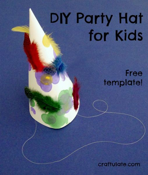 DIY Party Hat for Kids - with free template