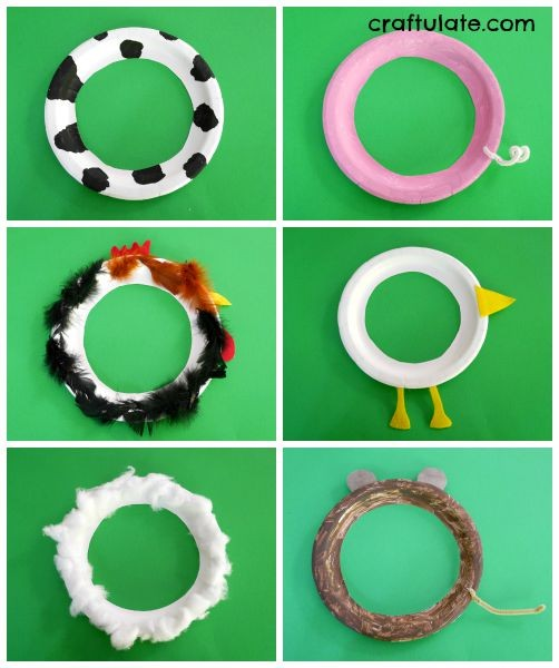 Farm Animal Ring Toss Game