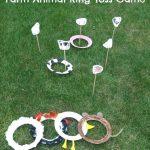 Farm Animal Ring Toss Game