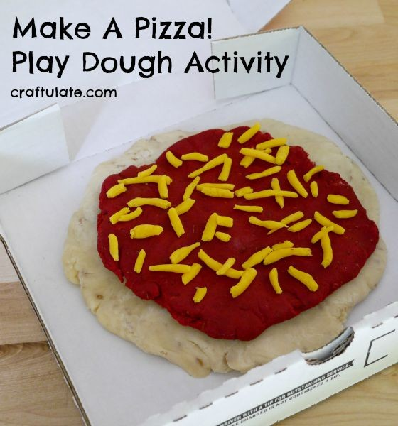Make a Pizza Play Dough Activity - this fun play recipe actually smells like pizza!