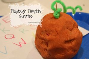 Playdough Pumpkin Surprise