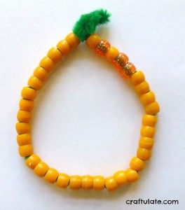 Bead and Pipe Cleaner Pumpkin