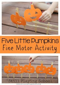 five-little-pumpkins-retelling-fine-motor