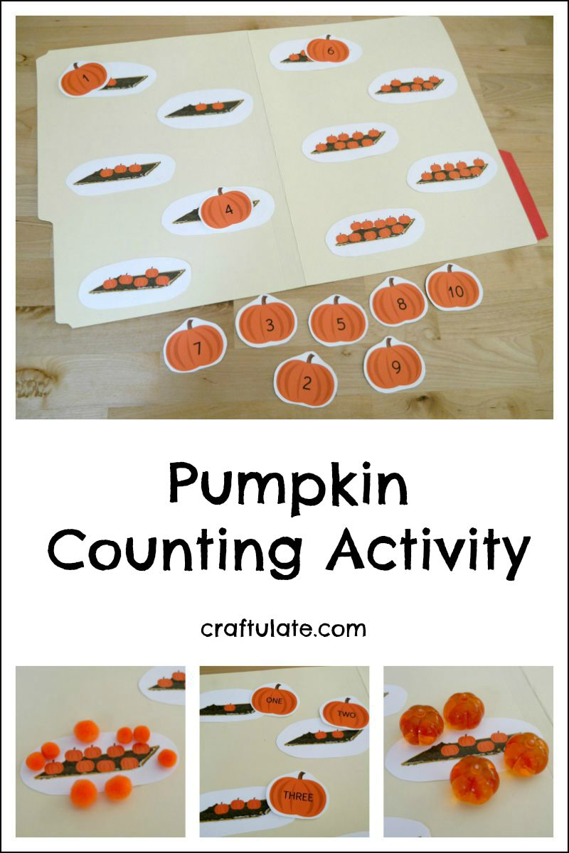 pumpkin counting activity craftulate. Black Bedroom Furniture Sets. Home Design Ideas