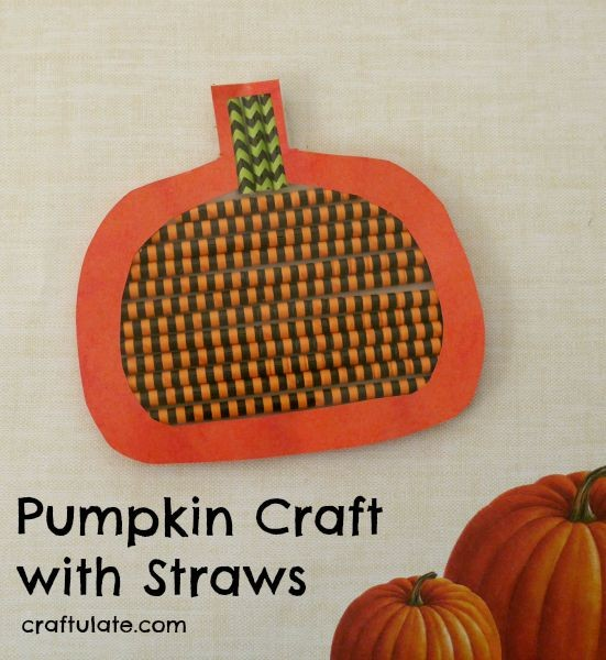 Pumpkin Craft with Straws - a fun activity for kids