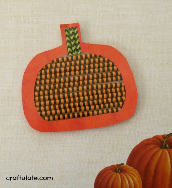 Pumpkin Craft with Straws