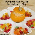 Pumpkin Play Dough Invitation to Play